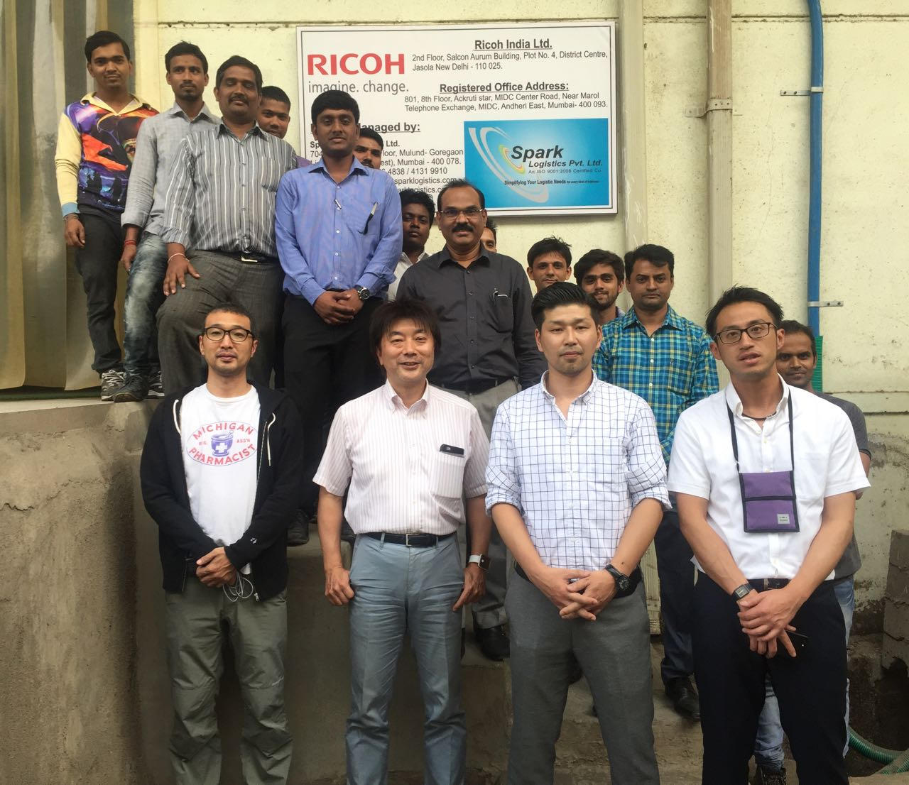Ricoh Team Japan visited the Spark Logistics
