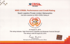 Spark Logistics gets awarded CRISIL Rating
